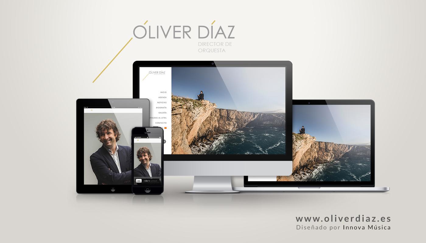 Diseño web para el director de orquesta Óliver Díaz