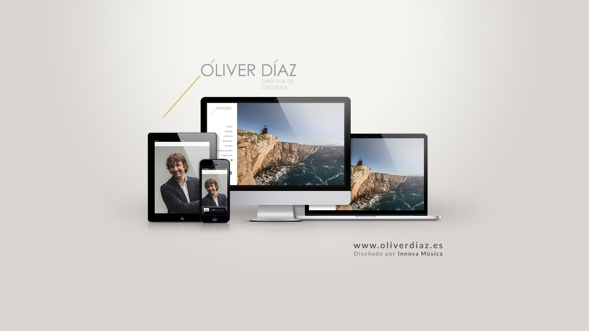 Porfolio del director de orquesta Óliver Díaz, diseñado por Innova Música