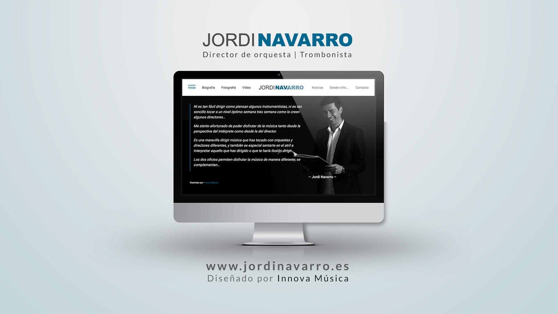 Nueva web de Jordi Navarro, director de orquesta y trombonista de la Orquesta Nacional de España